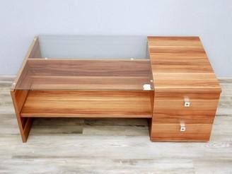 Konferenční stolek dřevolaminát/ sklo (16900B)