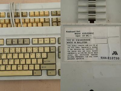 Vzácné klávesnice pro sběratele MITSUMI s AT kon. kvazi mechanické CZ