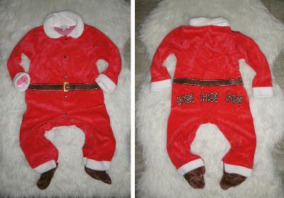 vánoce mikuláš santa ježíšek krásný příjemný overal 24 měs 92/98