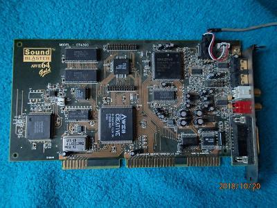 ISA zvuková karta Sound Blaster AWE64 GOLD CT4390  pro top sběratele!!