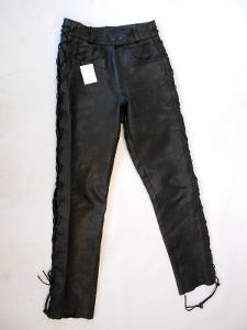Kožené dámské šněrovací kalhoty vel. 40/L obvod pasu: 72 cm