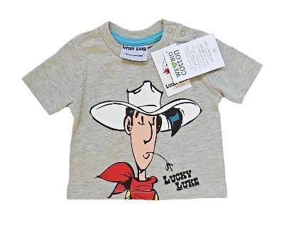 Licenční triko z bio bavlny LUCKY LUKE 0-3m NOVÉ