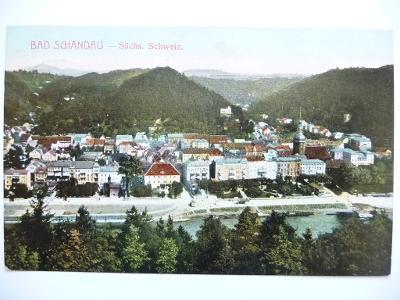 Bad Schandau - Sächs. Schweiz. - kolorovaná z roku 1907