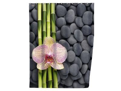 Sprchový závěs, textilní, SPA, 180x200 cm, WENKO