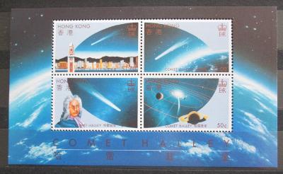 Hongkong 1986 Halleyova kometa Mi# Block 6 Kat 20€ 0158