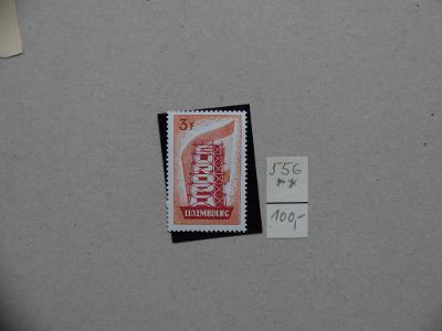 LUCEMBURSKO LUXEMBOURG CENNÁ MI 556 EUROPA SVĚŽÍ** KAT. 100 EURO