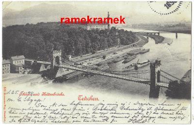 Děčín DA 1898 řetězový most (Ústí nad Labem Nový Bor Česká Lípa)