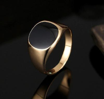 Prsten 19, 20mm  pozlacený *482
