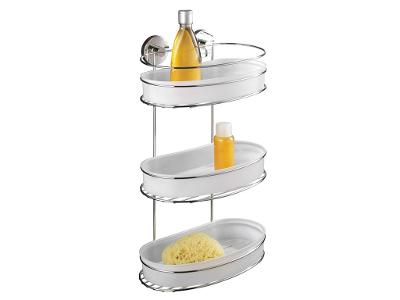 Koupelnová polička MILAZZO, Vacuum-Loc, 3 úrovně