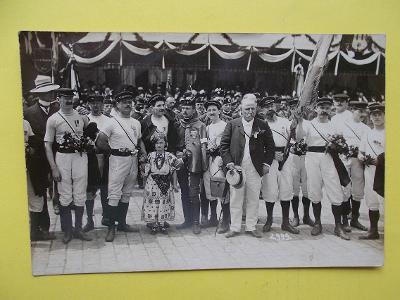 Praha Sokol slet 1907 foto Pavlík uniforma kroj cvičenec