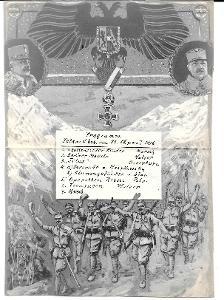 Pozvánka, WW1, 1916