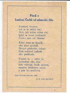 Píseň o Loučení Čechů od německé říše