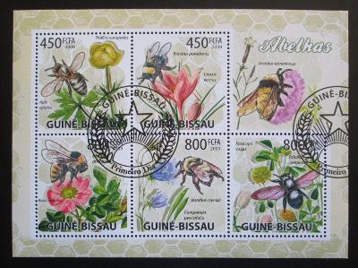 Guinea-Bissau 2009 Včely a květiny Mi# 4462-66 Kat 13€ 0444