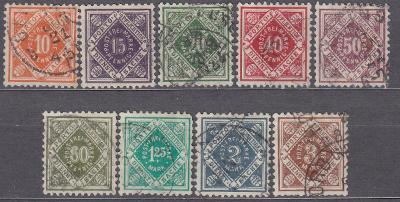 WÜRTTEMBERG - STARONĚMECKÝ STÁT 1921 Mi.: 150-158 - ražené