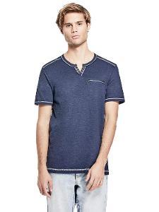 Pánské modré tričko Guess - Wilder vel. XS -SKLADEM MÁME BÍLÉ I ČERNÉ