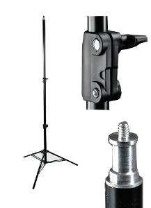 Hliníkový stativ pro studiové blesky a světla 75-242 cm