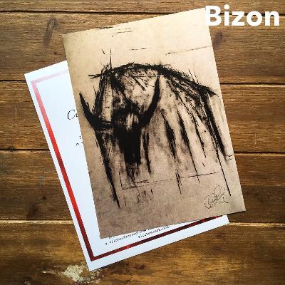 Print kresby bizona na 350mg křídovém papíře  A4