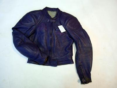 Kožená bunda dámská - fialová