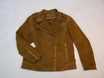 Kožená bunda broušená dámská