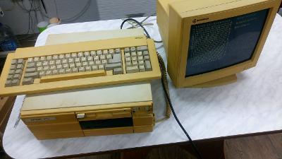 Lahůdka pro sběratele Epson PC XT Intel 8088 20MB se SW CRT k. funkční