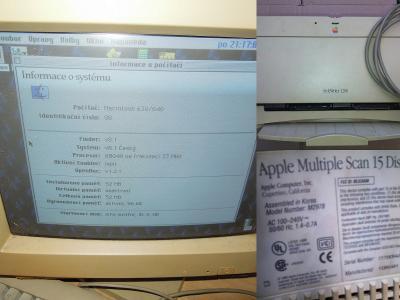 Lahůdka pro sběratele Apple Macintosh Performa se SW CRT key tiskárnou