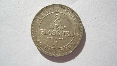 Sasko 2 groš 1864 B