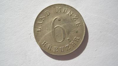 Sasko - Coburg - Gotha 6 krejcar 1836 VZÁCNÝ