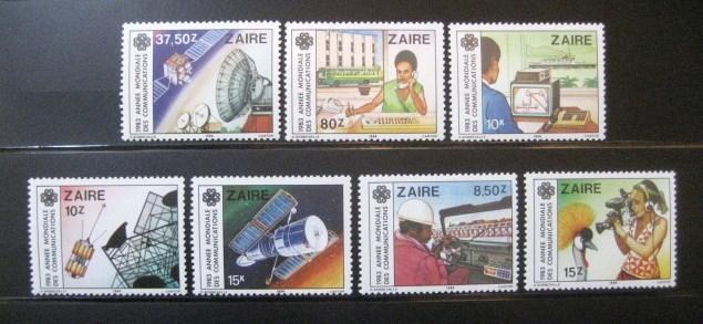 Kongo Dem. Zair 1984 Světový rok komunikace Mi# 846-52 0930