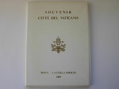 Sada mincí Vatikán 1989 - medaile Pápežov
