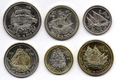 Juan da Nova: kompletní sada 6 mincí 10-500 francs 2013 UNC
