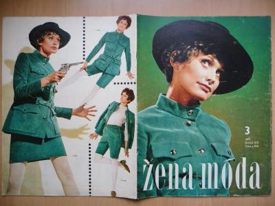 Časopis - Žena + móda - číslo 3. z roku 1968