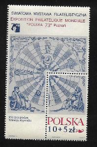 KOSMOS - KOPERNÍK ** Polsko 2186 (Block 52)