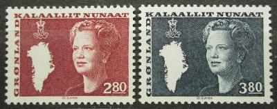 Grónsko 1985 Královna Markéta II. Mi# 155-56 0257