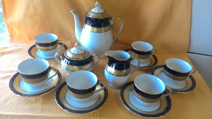 Kávový servis Slavkov pravý lept - Porcelán