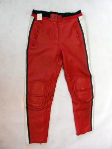 Kožené kalhoty červené