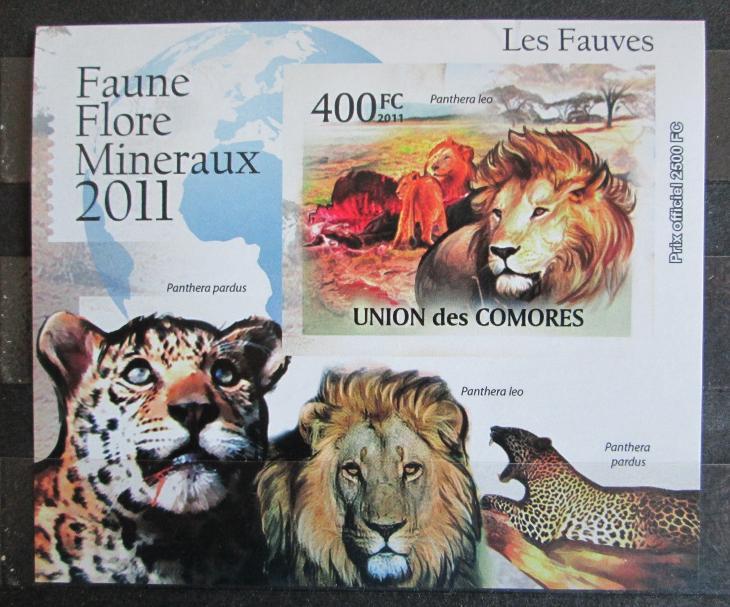 Komory 2011 Kočkovité šelmy neperf. Mi# 3043 B Block 0877 - Filatelie
