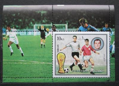 Fudžajra 1973 MS ve fotbale Mi# Block 142 A Kat 6€ 0886