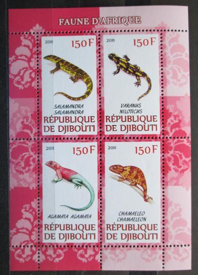 Džibutsko 2011 Ještěrky Mi# N/N 1159 - Filatelie