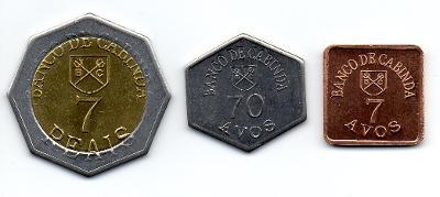 Cabinda: kompletní sada 3 mincí 2011 UNC - 7 mld lidí na Zemi