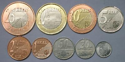 Cabinda: kompletní sada 9 mincí 2014 UNC - ryby