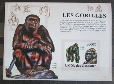 Komory 2009 Gorily neperf., vzácné Mi# Block 478 B 1159