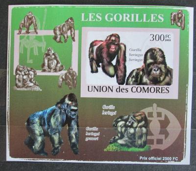 Komory 2009 Gorily neperf. Mi# 2145 B Block 1148