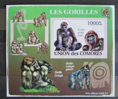 Komory 2009 Gorily neperf. Mi# 2147 B Block 1158