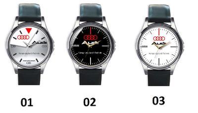 Audi Logo - hodinky kožený pásek