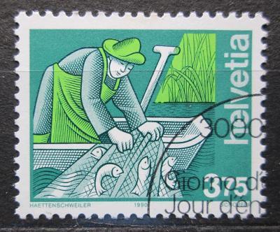 Švýcarsko 1990 Rybář Mi# 1413 Kat 4€ 0898