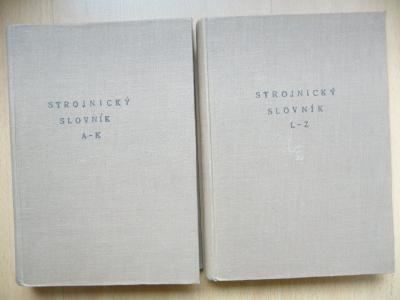 Strojnické slovníky A-Z Elektrotechnické Německo-česko-slovenské 1931