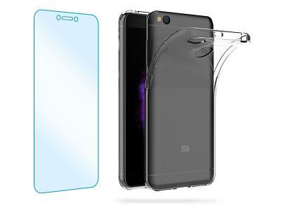 Tvrzené ochranné sklo + průhledný zadní kryt pro Xiaomi Mi A2 Lite