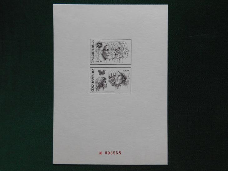 1996 - PTR 3 - Europa Mír a Svoboda (příloha dárkového alba České Pošt - Filatelie