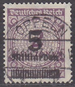 NĚMECKÁ ŘÍŠE - INFLACE PŘETISK 1923 Mi: 332 - ražená - HEZKÝ KUS