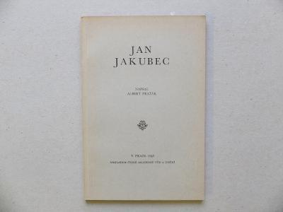 PRAŽÁK ALBERT JAN JAKUBEC JINDŘICH VODÁK KNIHY 30. LÉTA